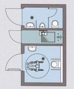Toilettenanlage