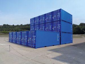 Hansa Baustahl Lagercontainer 20 Fuß Hamburg
