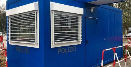 hansa Baustahl Wachcontainer Polizei Hamburg